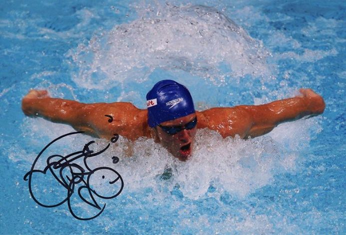 Mark Foster, Olympics swimmer, signed 12x8 inch photo.